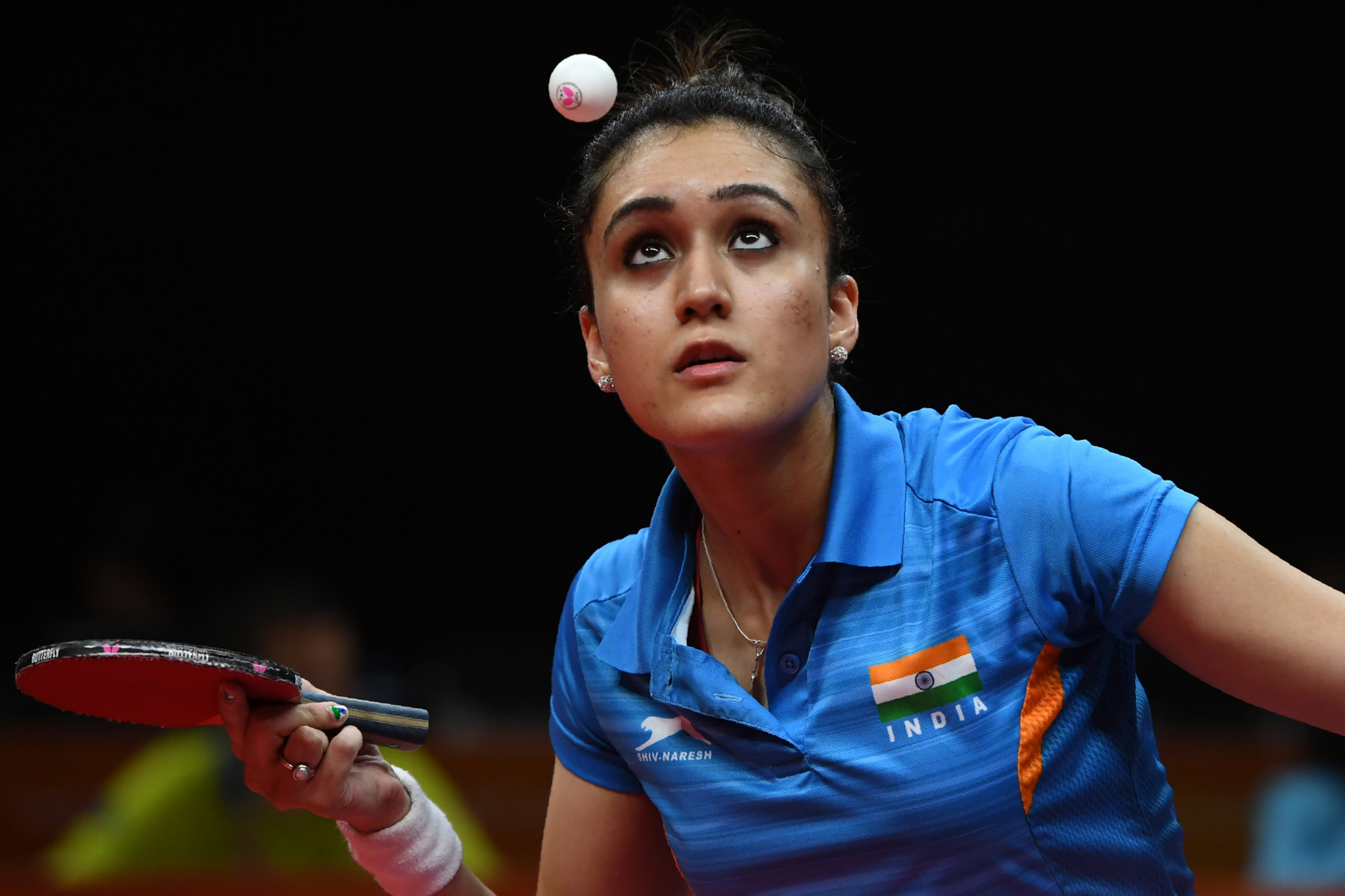 Commonwealth Games table tennis gold medallist Manika Batra was among the female athletes specially picked out for praise by Indian Prime Minister Narendra Modi ©Getty Images