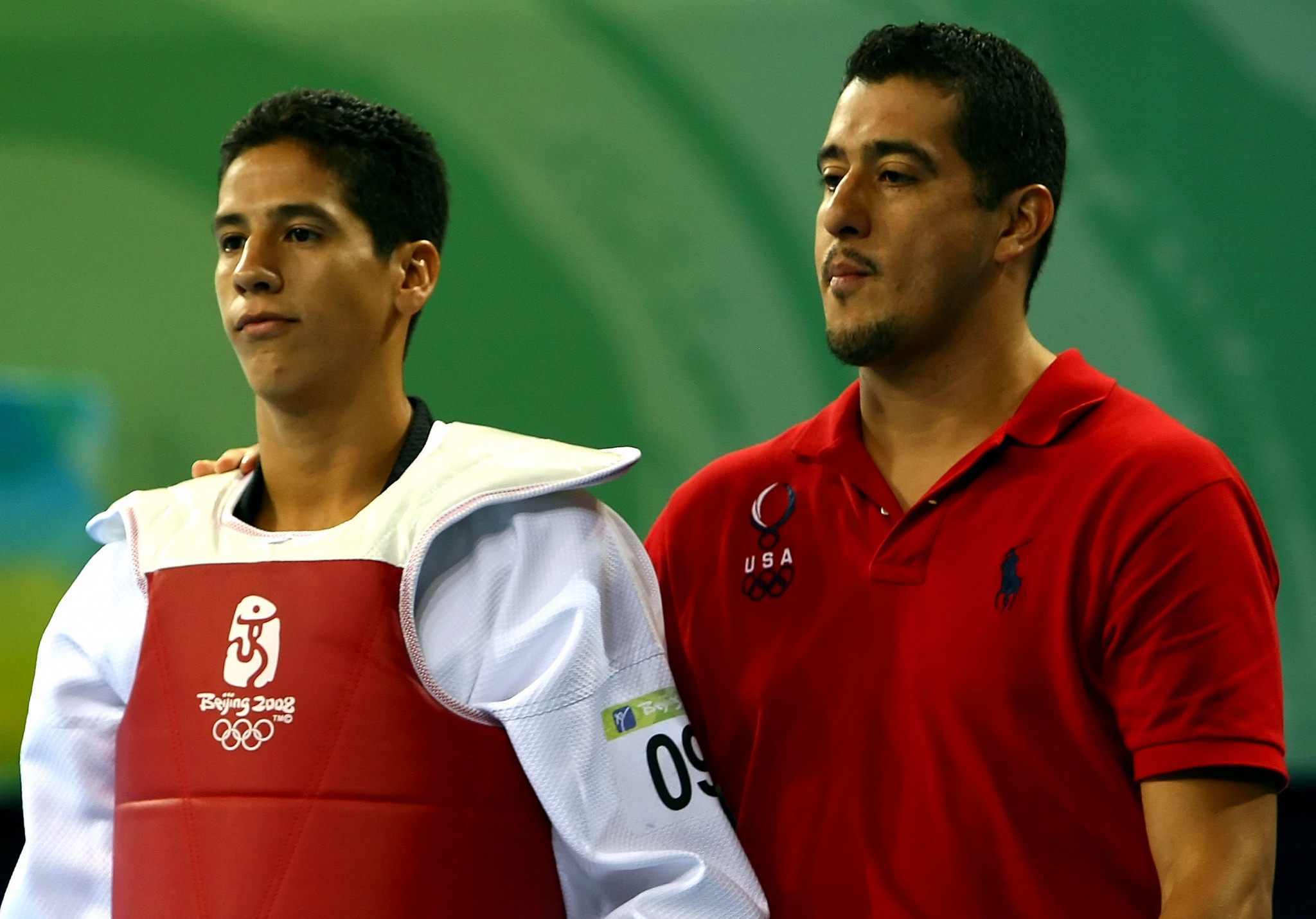 Jean Lopez, right, was suspended from all World Taekwondo events earlier this month ©Getty Images