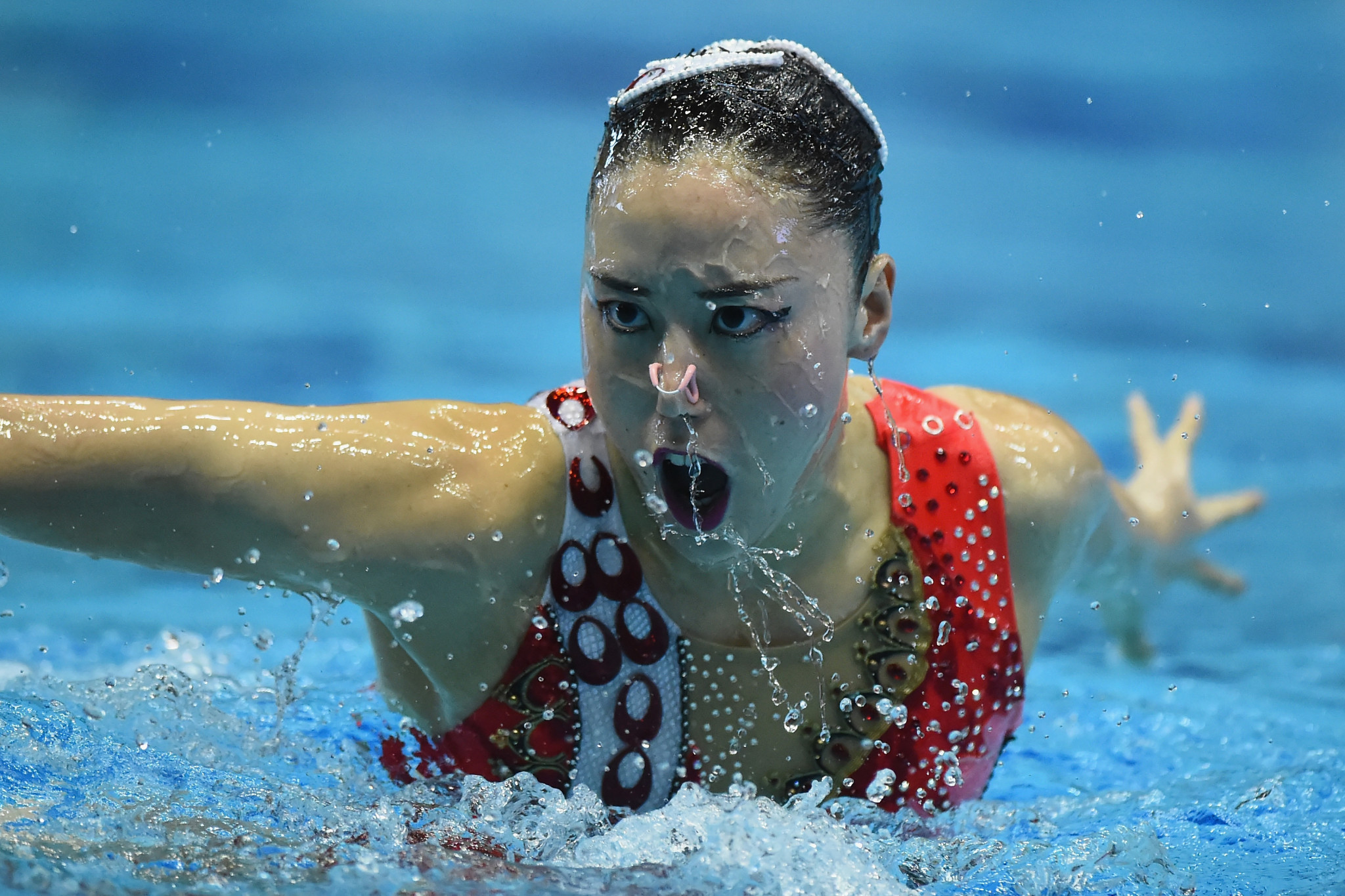 Yukiko Inui won seven golds in total on the latest leg of the FINA Artistic Swimming World Series ©Getty Images