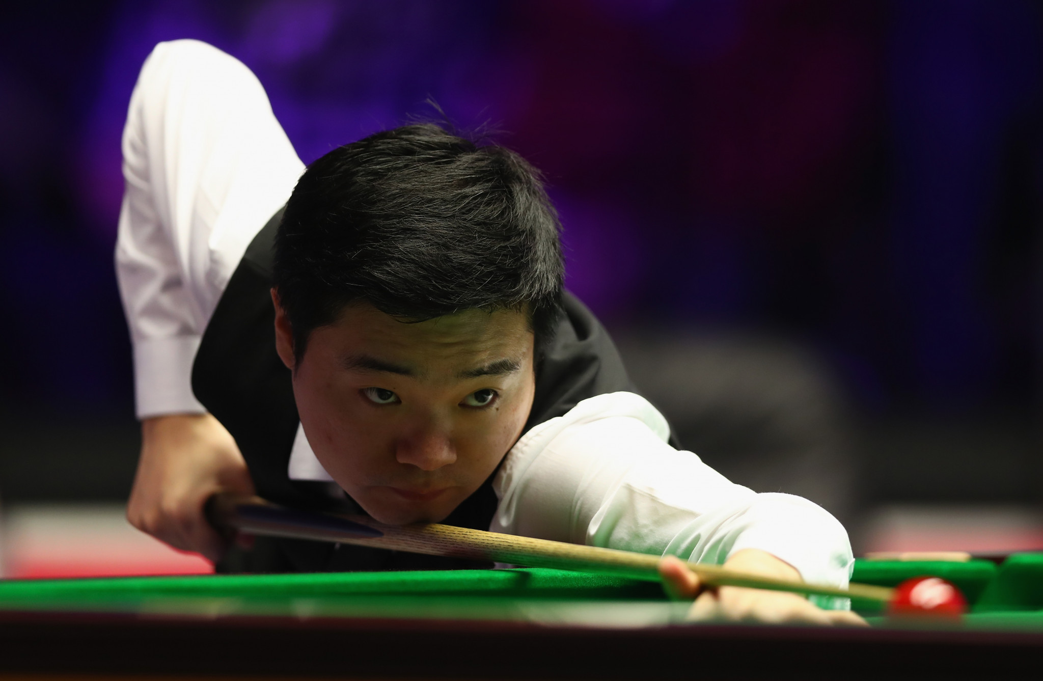 Ding Junhui is now the favourite for the title at the World Snooker Championship in Sheffield after reaching the quarter-final ©Getty Images