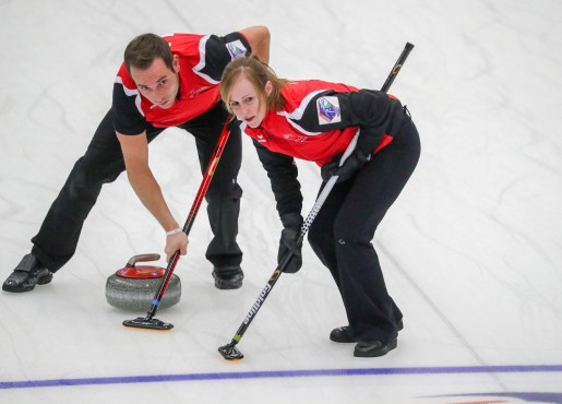 Switzerland have marginally increased their lead in the mixed doubles curling world rankings ©WCF