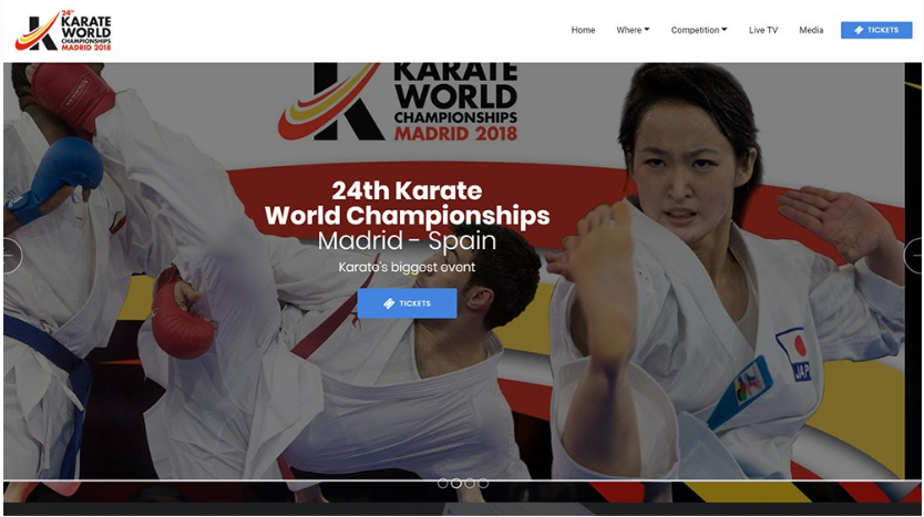 The official website for the 2018 World Karate Championships in Madrid has been launched ©WKF