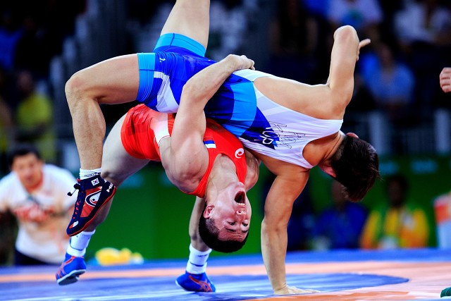Action started today in the European Wrestling Championships in Kaspiysk ©Russian Wrestling Federation