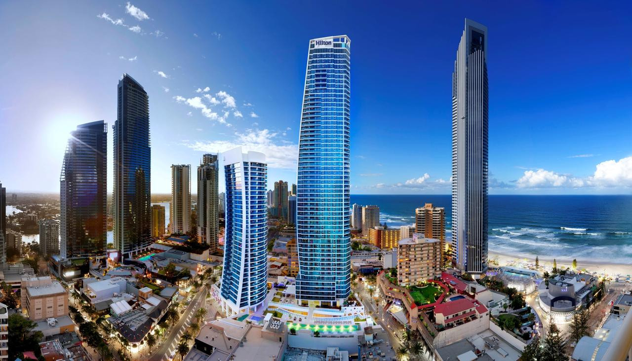 The average visitor to the Gold Coast during the Commonwealth Games paid on average AUD$347 per night ©Hilton Hotels