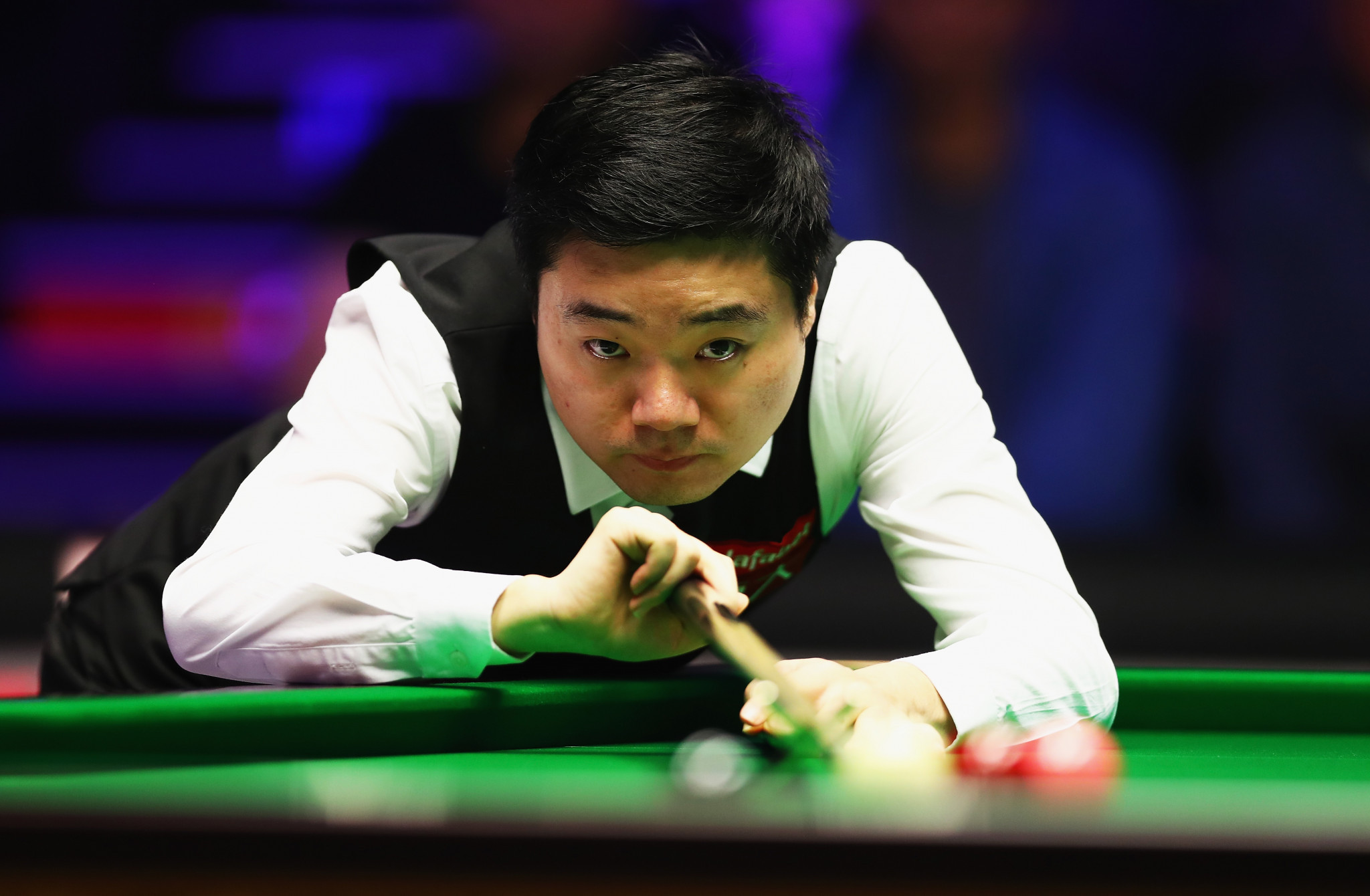 Ding Junhui is on the verge of a shock exit at the Crucible ©Getty Images