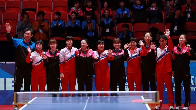 North and South Korea abandon quarter-final clash to form unified team at ITTF World Championships