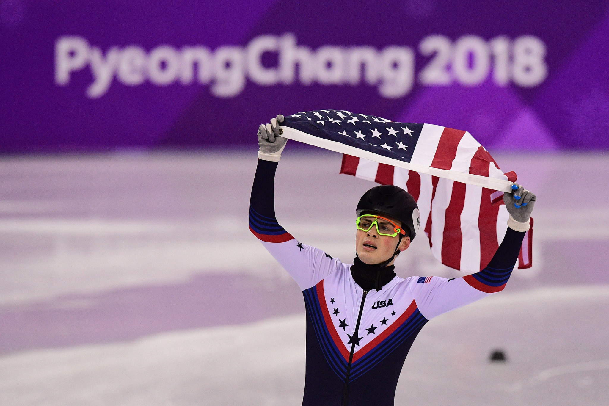 John-Henry Krueger claimed the United States only short track speed skating medal at Pyeongchang 2018 ©Getty Images