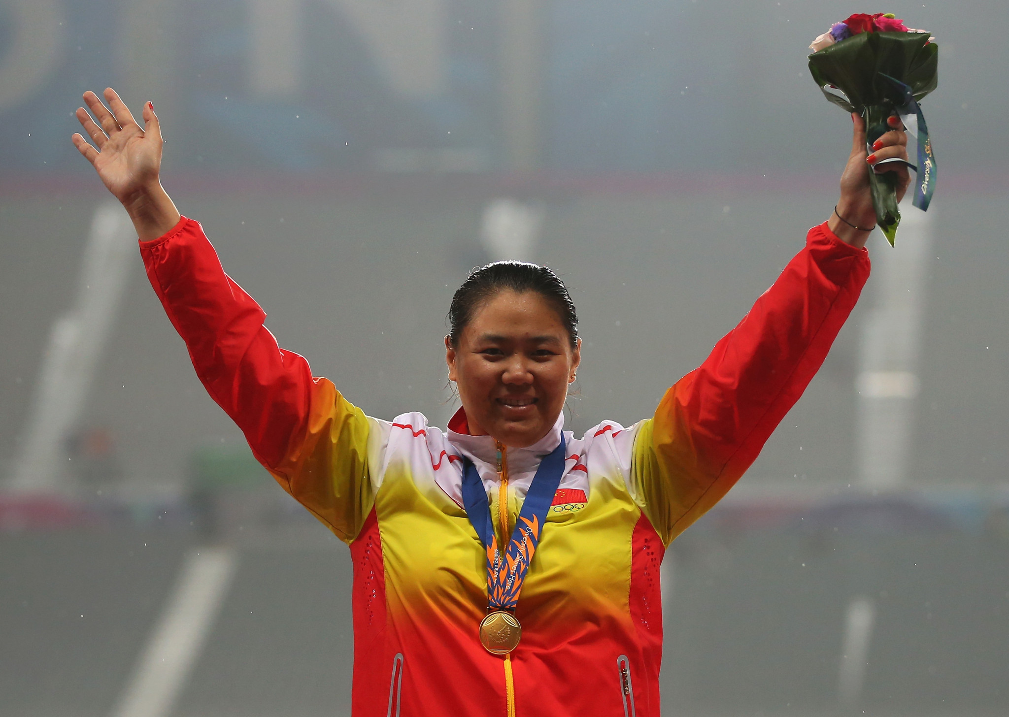 Zhang Wenxiu was stripped of an Asian Games hammer gold before having it returned following a successful appeal the following year ©Getty Images