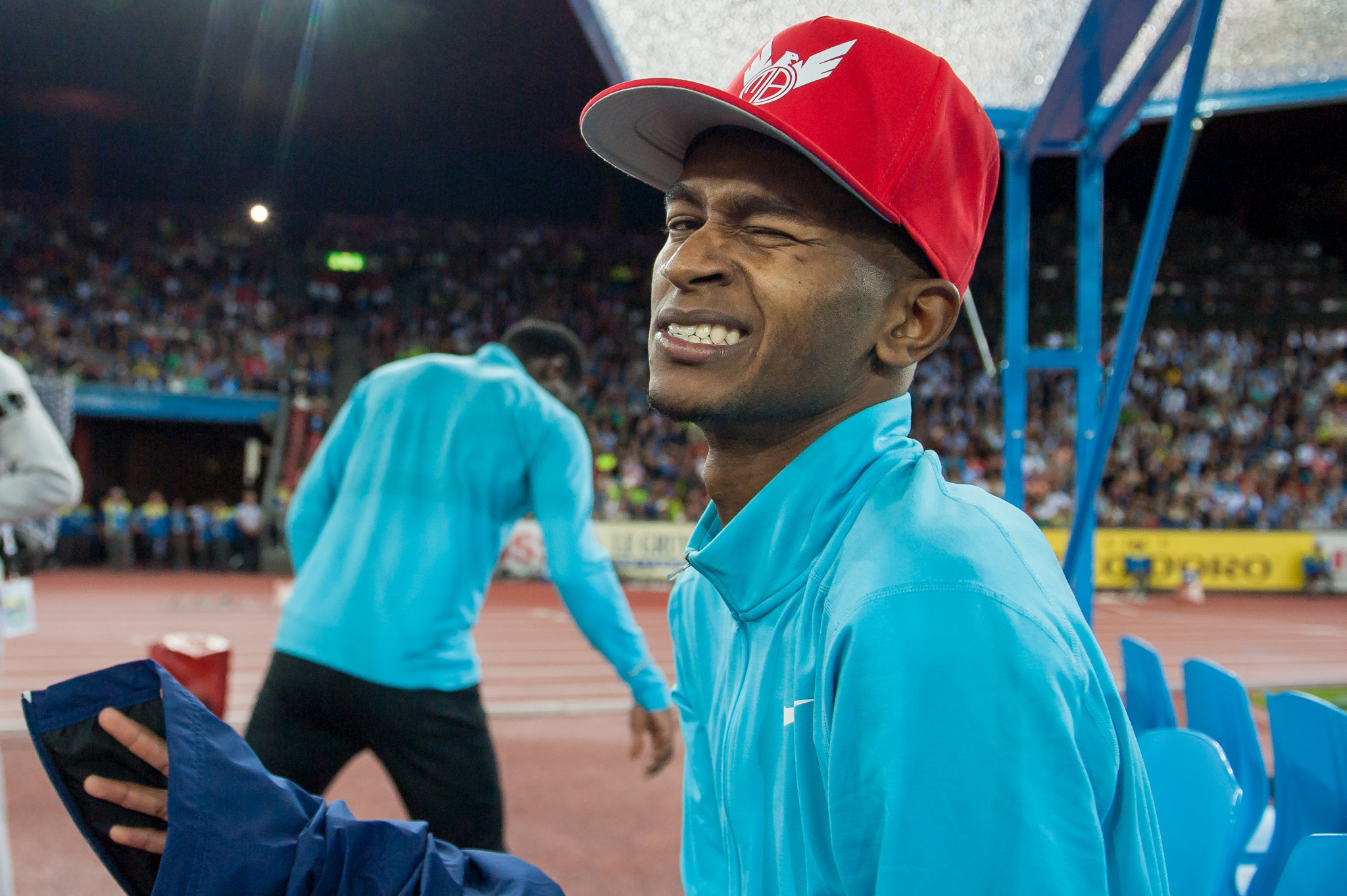 Mutaz Essa Barshim says he has the world record on his mind ©Getty Images