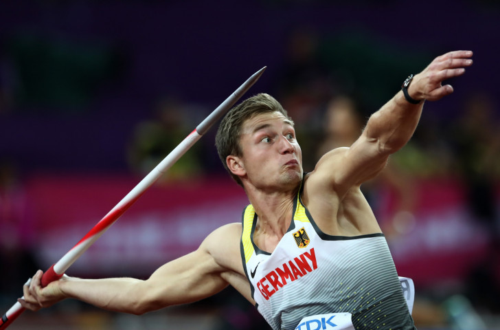 Germany's Thomas Rohler will seek to make a similar impact in tomorrow's opening IAAF Diamond League meeting in Doha to the one he made last year, when he produced an effort of 93.90m ©Getty Images
