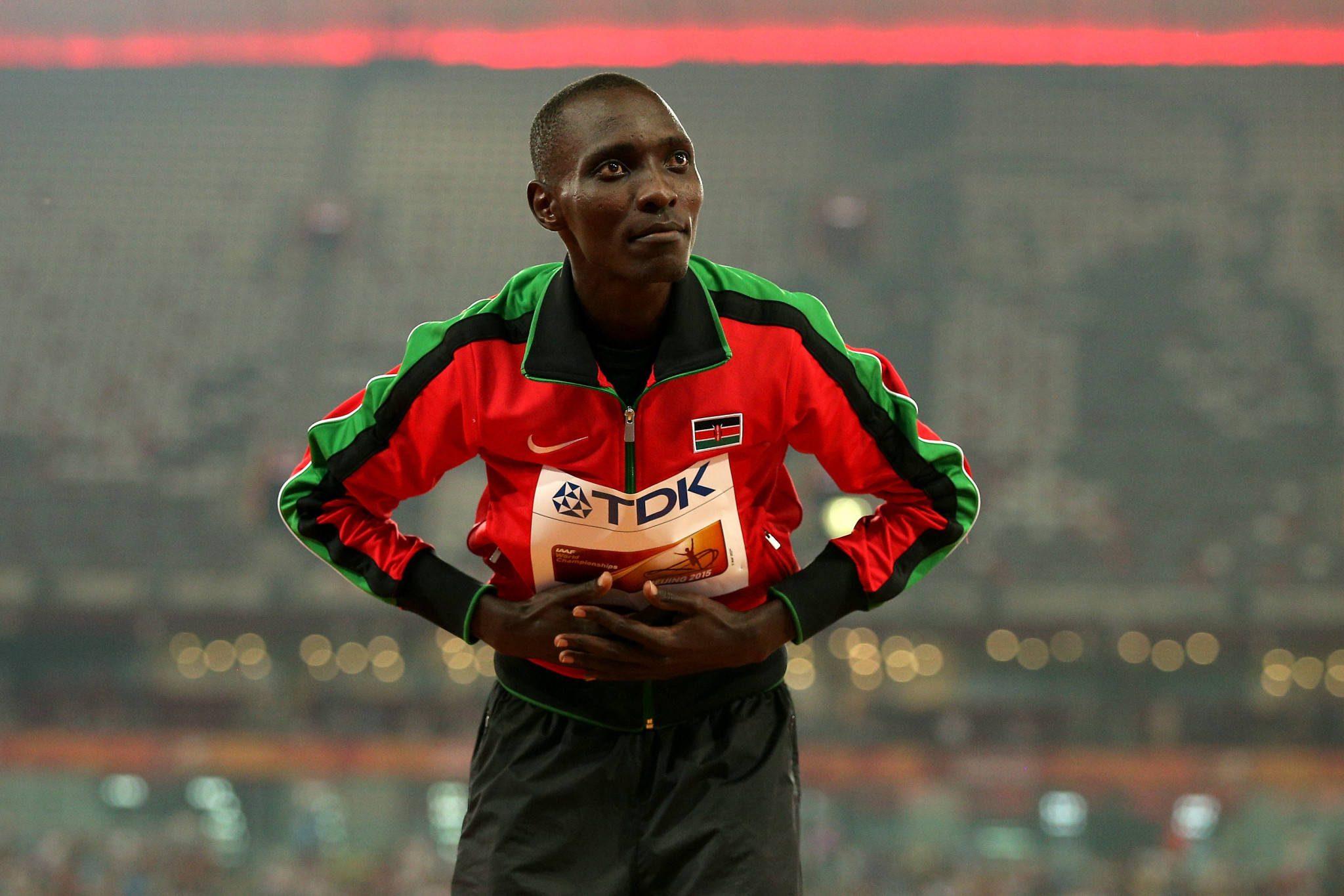 Asbel Kiprop claims he was notified of the out-of-competition test in advance ©Getty Images