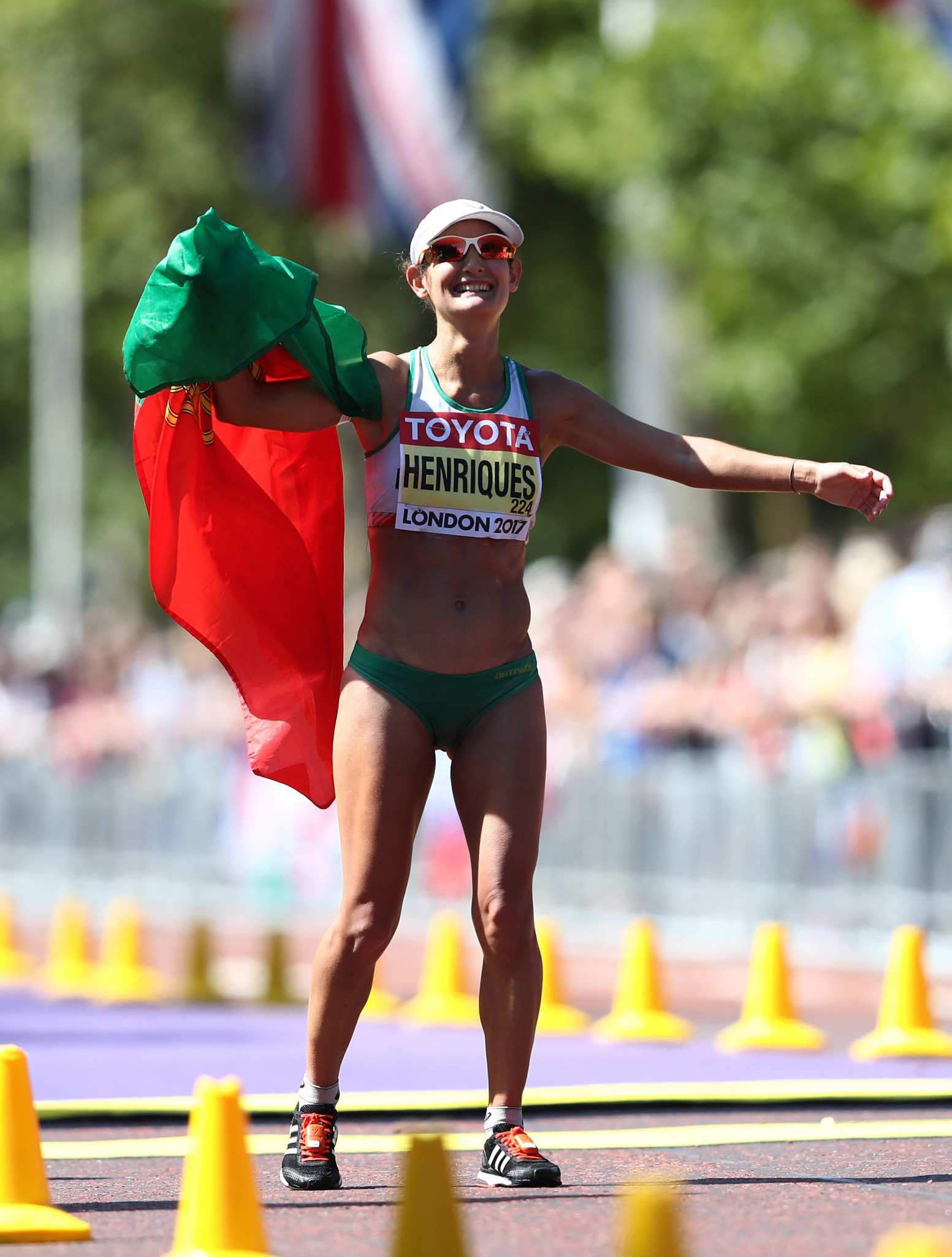 Portugal's world 50km race walk champion Ines Henriques is favourite to win the event at the IAAF World Race Walking Team Championships in Taicang ©Getty Images