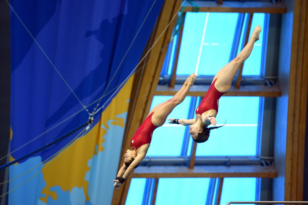 China's Si Yaije and Lin Shan earned their first FINA Diving World Series gold in Kazan ©FINA