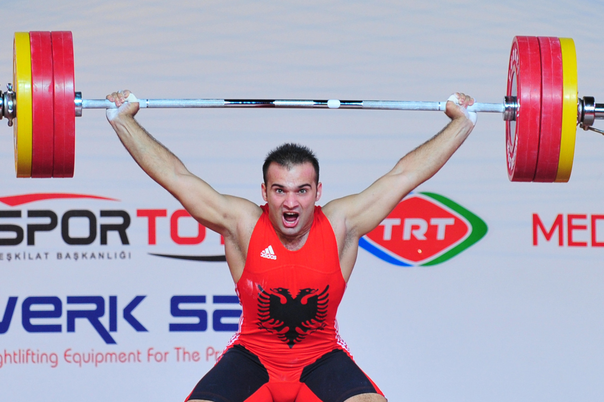 Erkand Qerimaj is another of Albania's weightlifters but the sport in the country is in crisis ©Getty Images