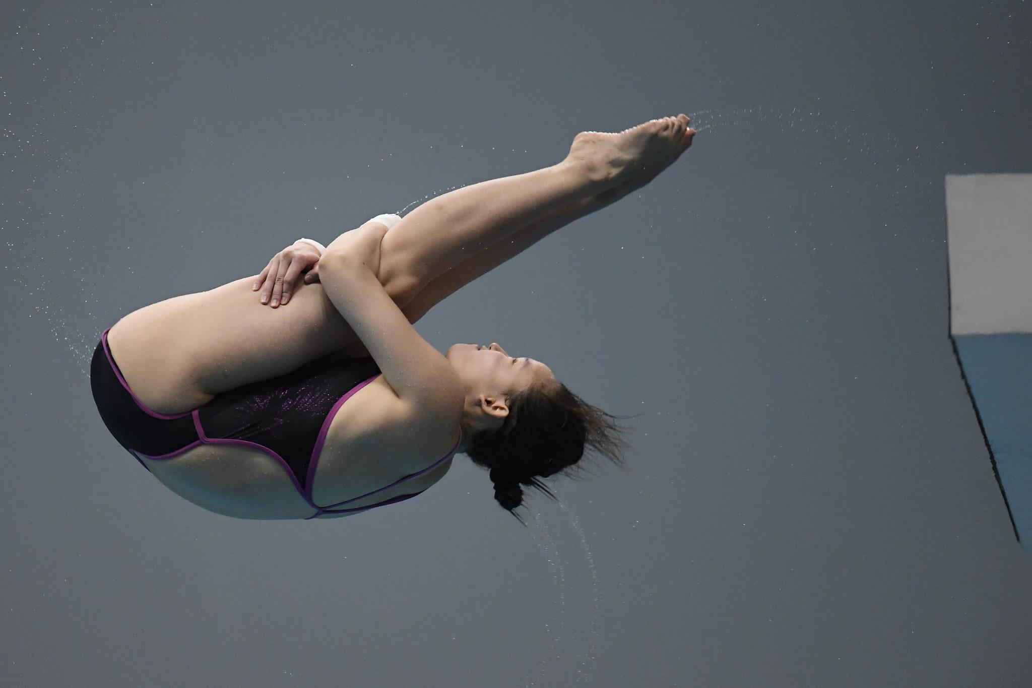 Ren Qian won the women's 10m platform final today ©Getty Images