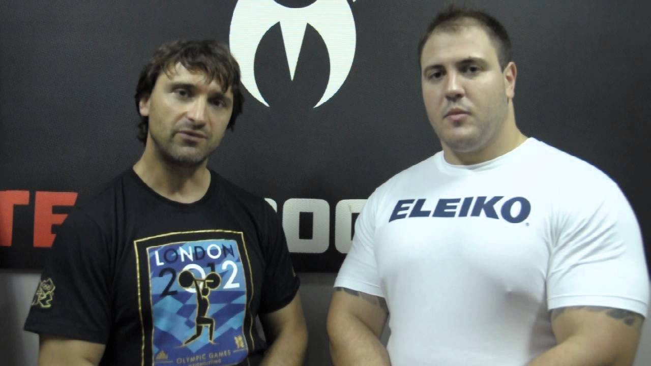 Maxim Agapitov, left, is committed to changing the culture of doping in weightlifting in Russia ©YouTube