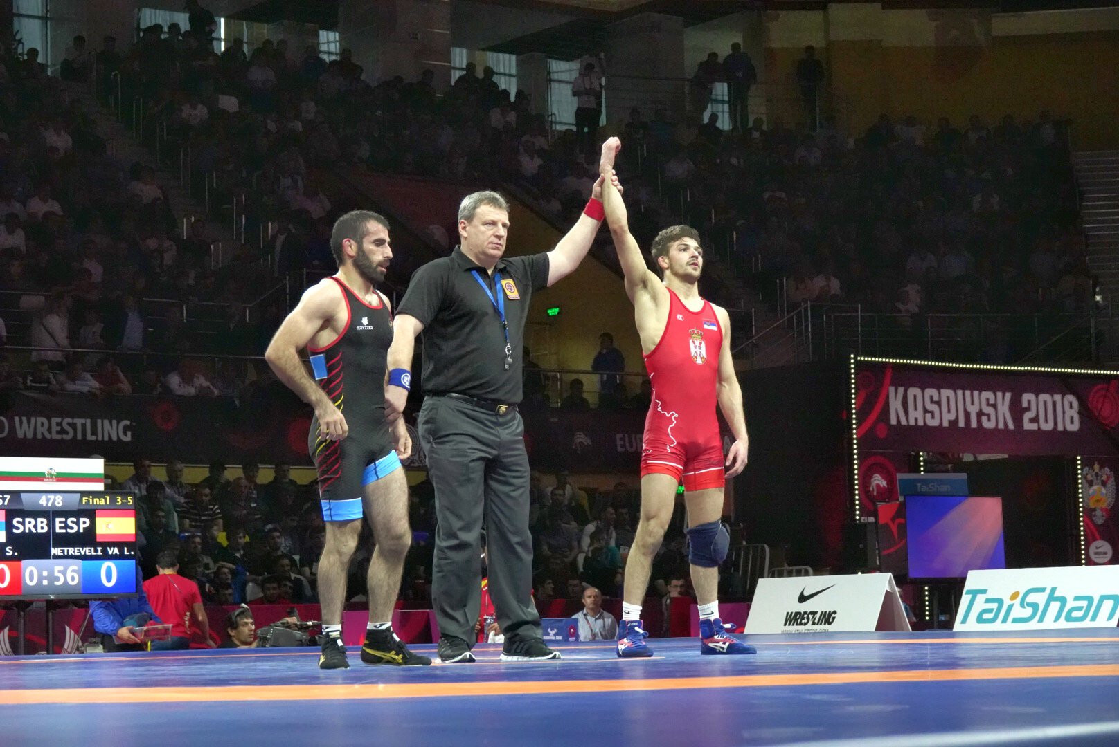 Stevan Micic of Serbia won his country's first-ever European Championship medal ©UWW