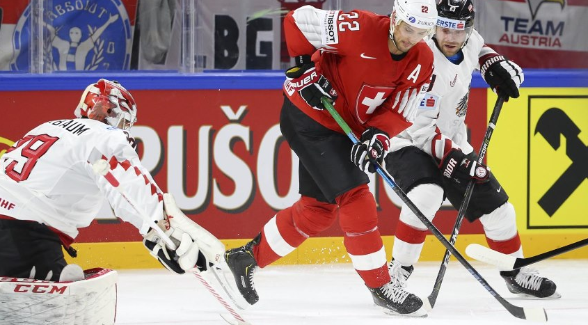 Switzerland edge Austria in overtime at IIHF World Championships