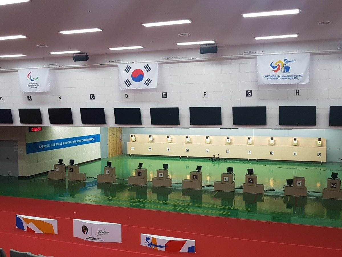 The event has been taking place at the Cheongju Shooting Range ©World Shooting Para Sport