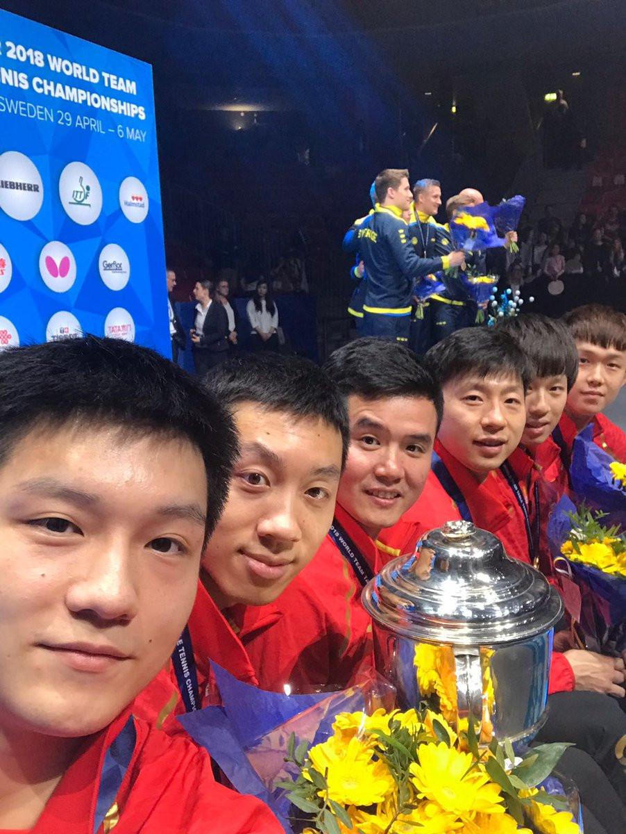 China thrash Germany to clinch men's ITTF World Team Championships title