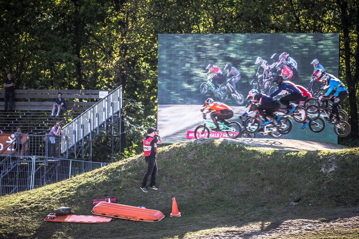 The fourth round of the BMX Supercross World Cup drew to a close in Papendal ©UCI
