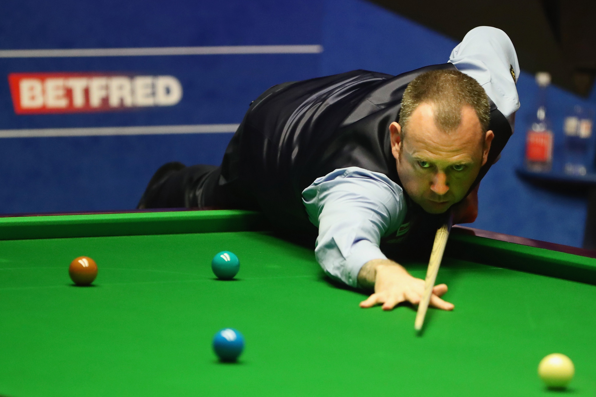 Mark Williams holds a three frame lead heading into the final day of competition ©Getty Images
