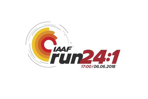 The IAAF have organised a 24 hour run across the world ©IAAF