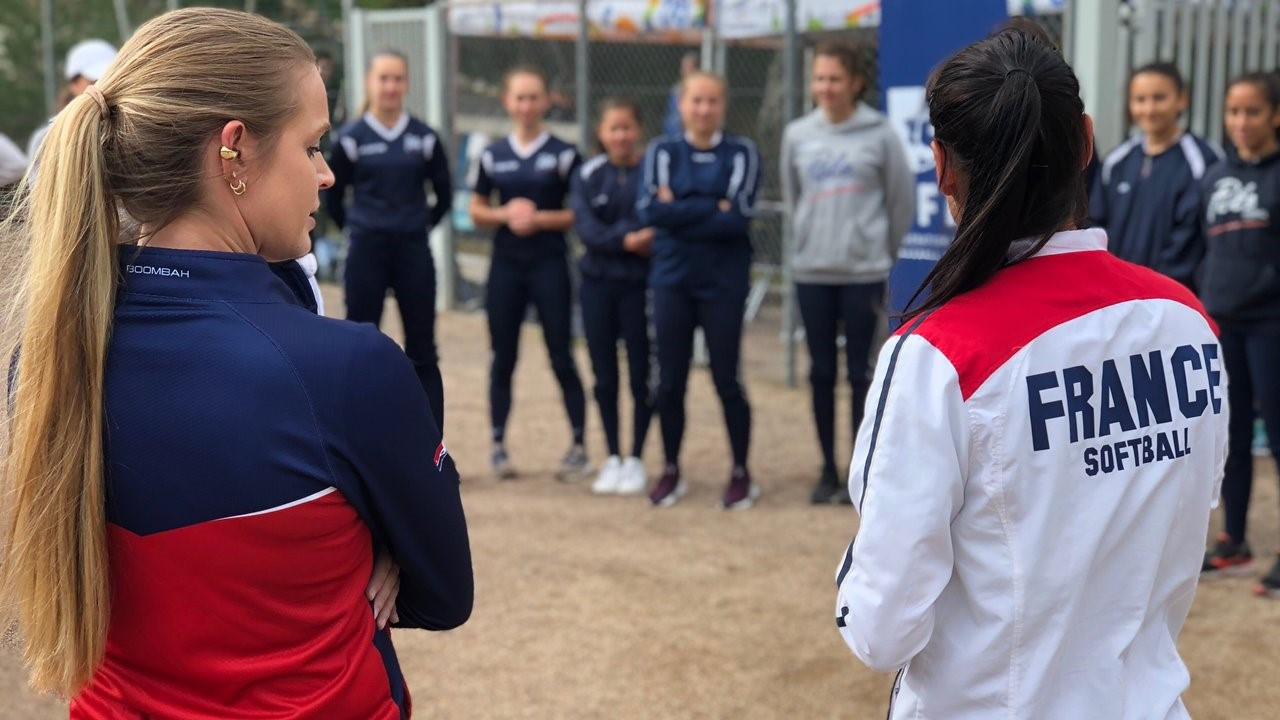 Training sessions aimed at France's up-and-coming softball athletes were held in Boulouris to coincide with the conclusion of the event last week ©WBSC