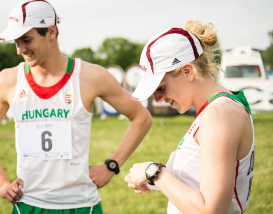 Demeter Bence and Kovacs Sarolta led Hungary to gold on home soil ©Hungarian Modern Pentathlon Association