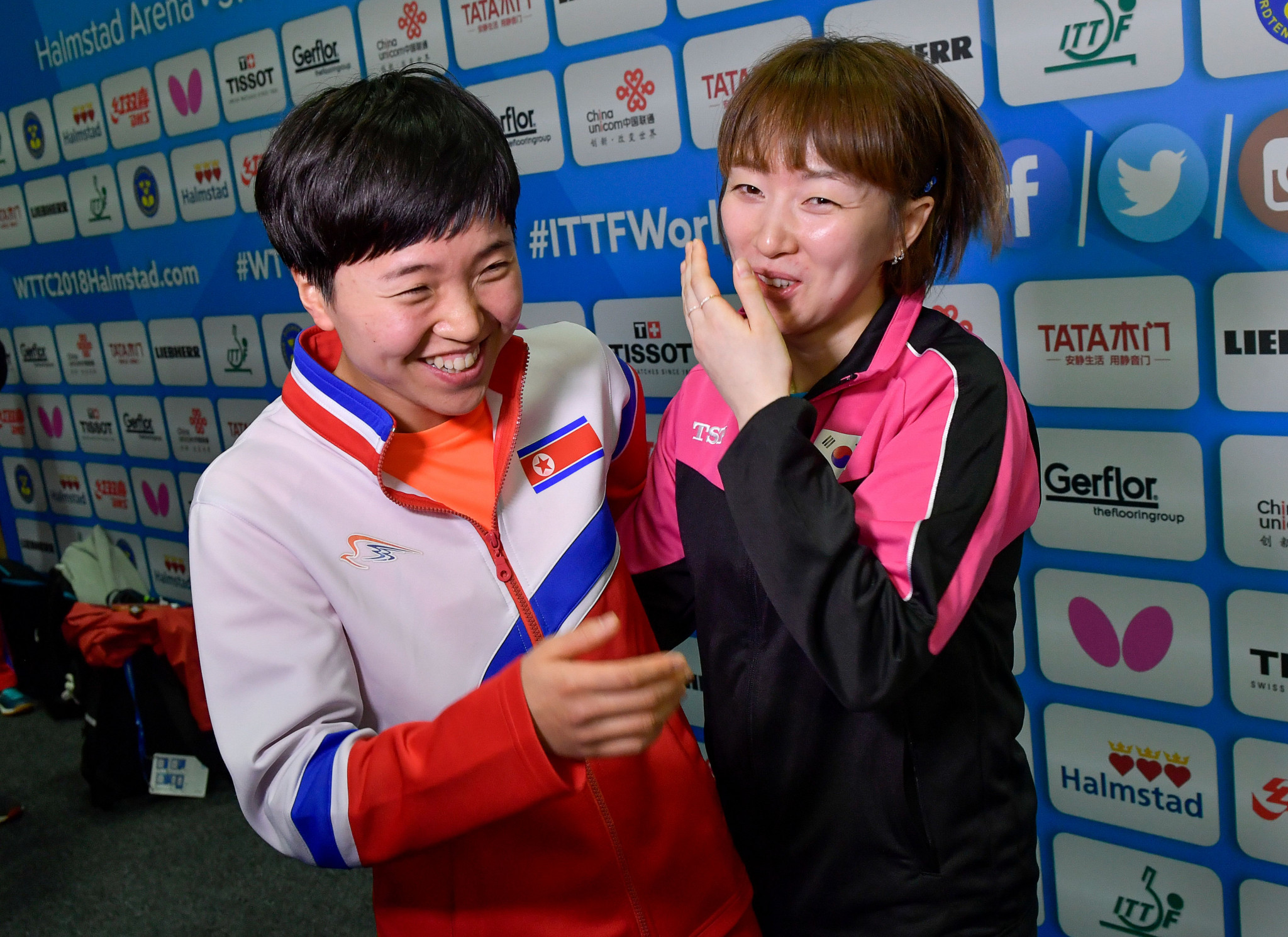 Suh Hyo-won, right, believes a joint Korean team could challenge the best nations at the 2018 Asian Games ©Getty Images