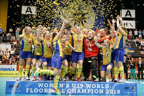 Third successive win for Sweden over Finland at IFF Under-19 Women's Floorball World Championships