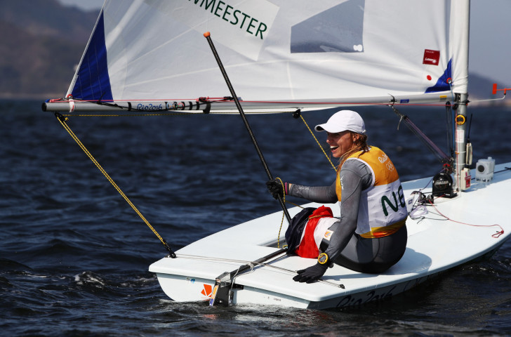 Rio 2016 champion Marit Bouwmeester has moved up to second place in the Laser European Championships after the second day of racing at La Rochelle ©Getty Images