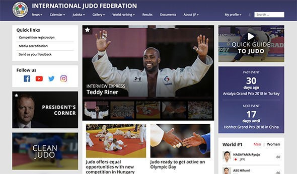 IJF launch new-look website to start Tokyo 2020 countdown