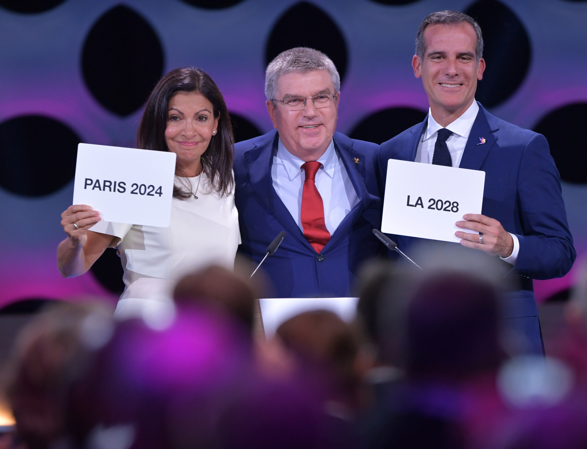 The double award of the Summer Olympics to Paris and Los Angeles concluded another accident-prone bidding process ©Getty Images