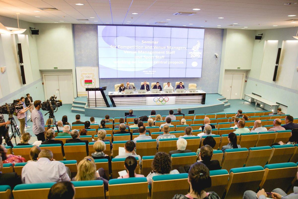 Minsk 2019 are set to provide a progress report to NOCs ©EOC