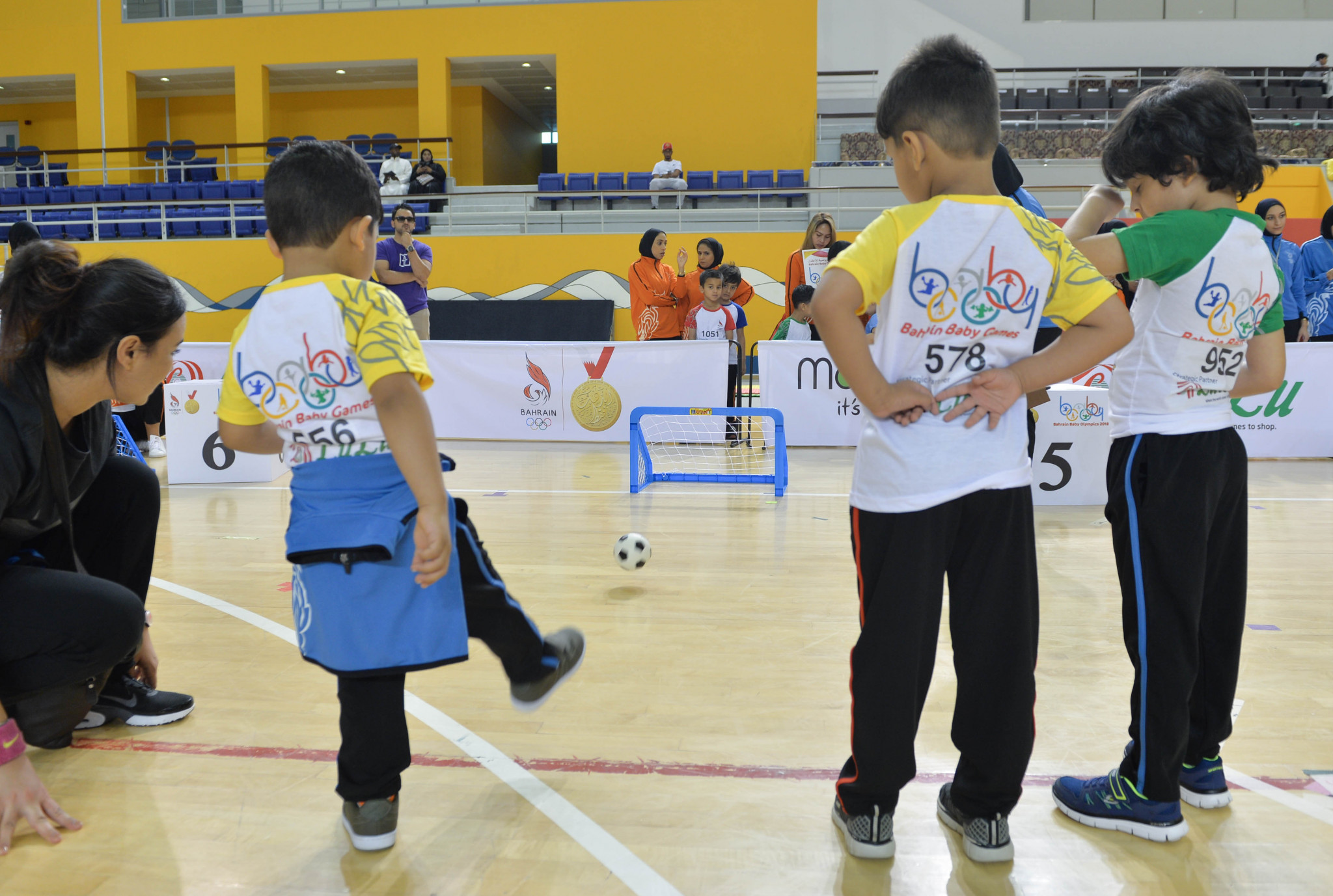 Toddlers take part in football competition as part of Bahrain Baby Olympics