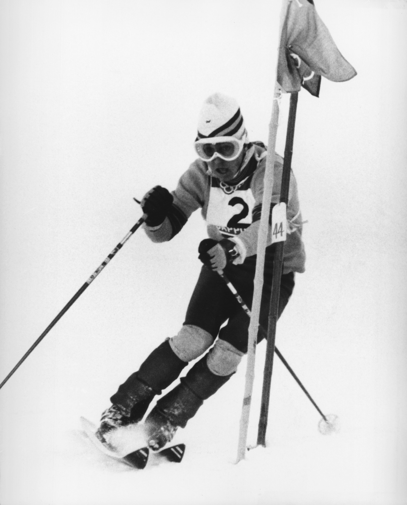 Spanish skier Francisco Fernández Ochoa skiing to slalom victory at Sapporo 1972. It remains Spain's only Winter Olympic gold medal ©Getty Images