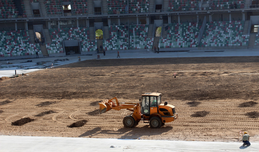 The installation of the pitch and running track is set to begin shortly ©Belarus Ministry of Sport and Tourism