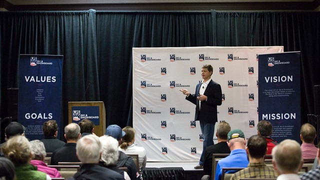 US Ski and Snowboard chief executive Tiger Shaw delivered the keynote speech at the body's Congress ©US Ski and Snowboard