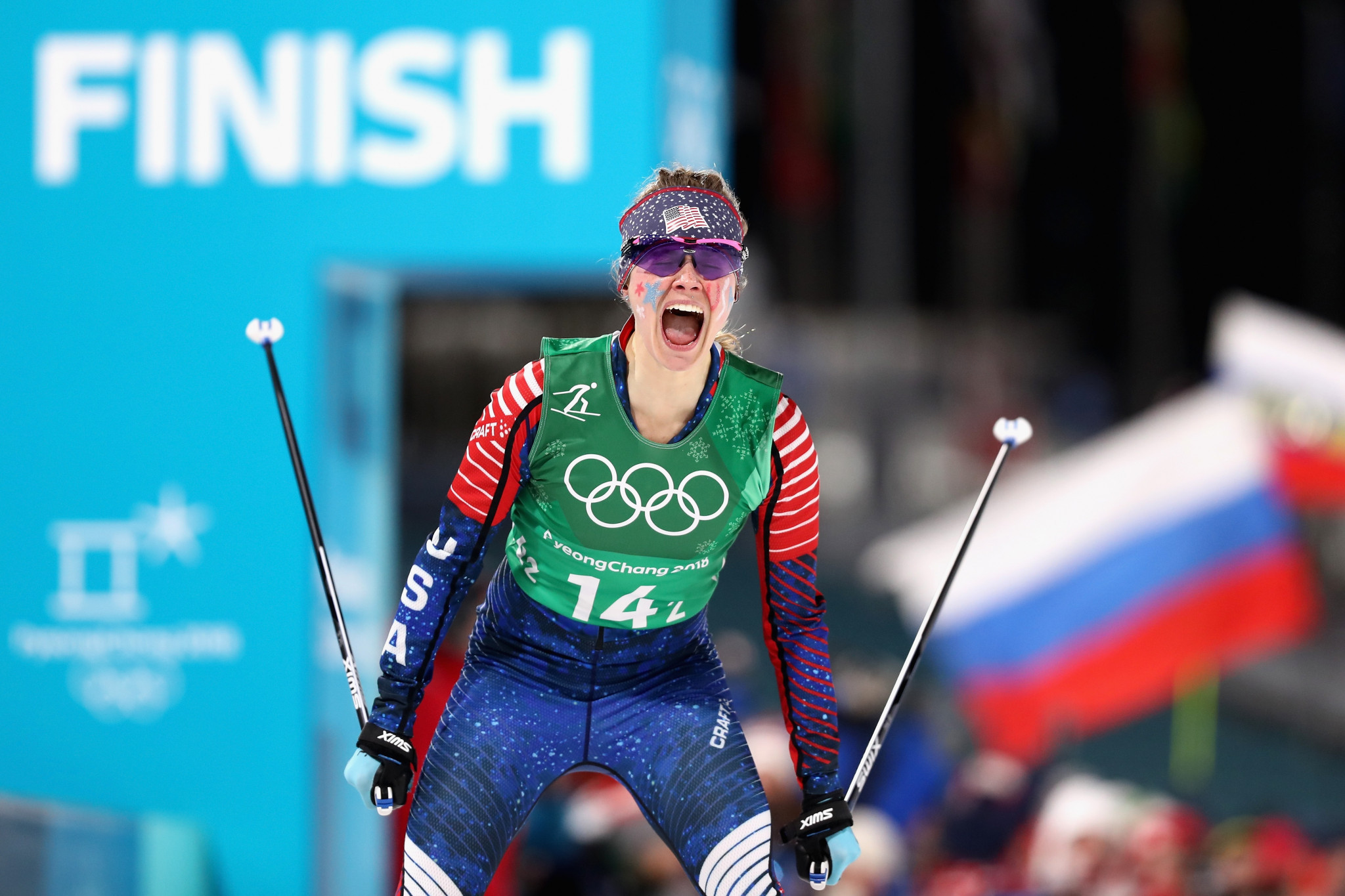 Jessica Diggins has won her seventh FIS World Cup race of her career ©Getty Images