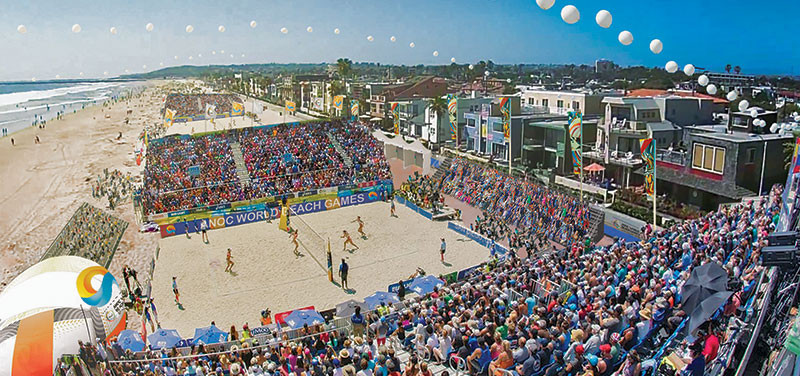 The World Beach Games are set to take place from October 10 to 15 next year ©San Diego 2019