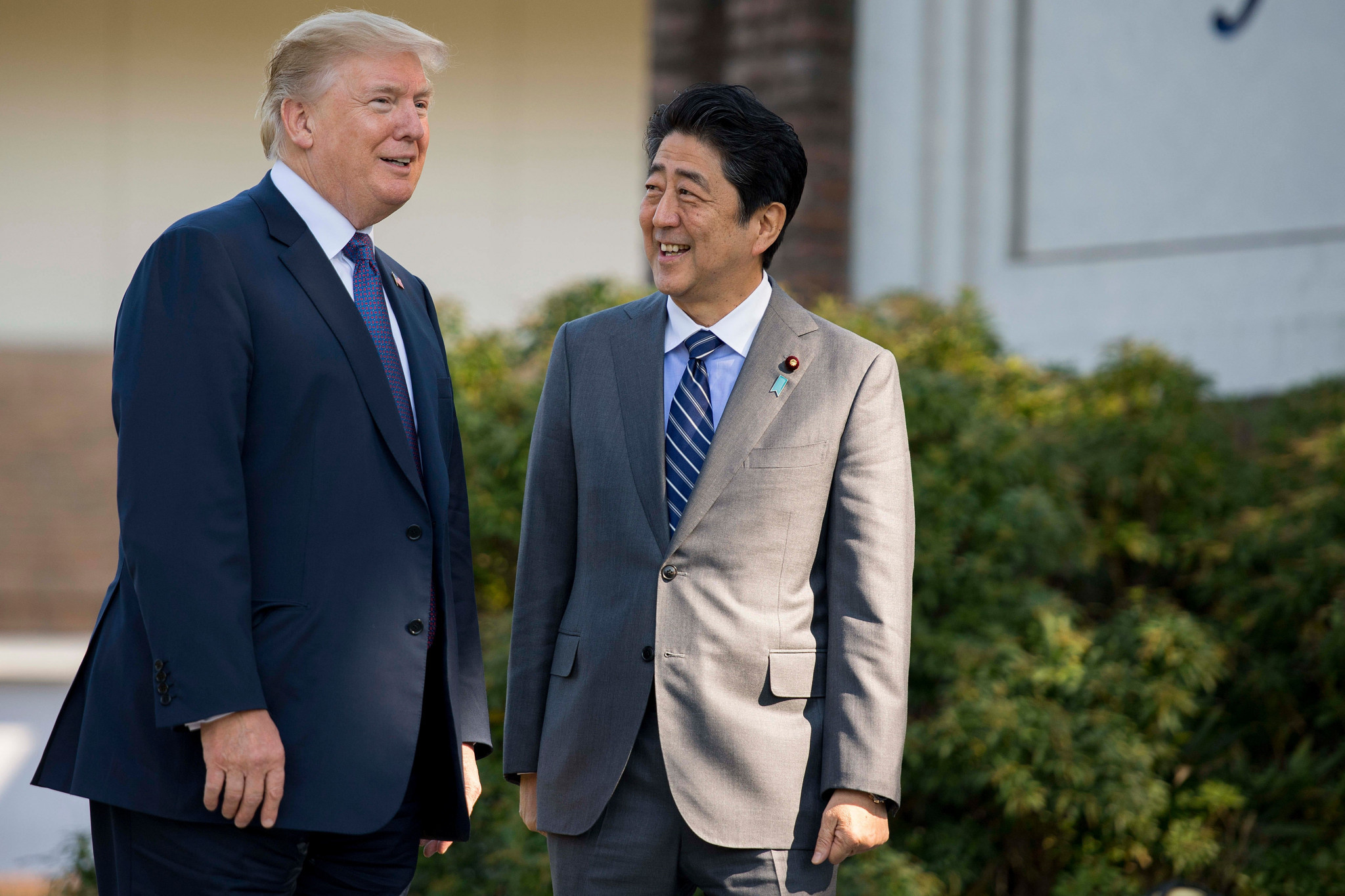 United States President Donald Trump and Japanese Prime Minister Shinzō Abe played a round of golf at the Kasumigaseki Country Club in November ©Getty Images