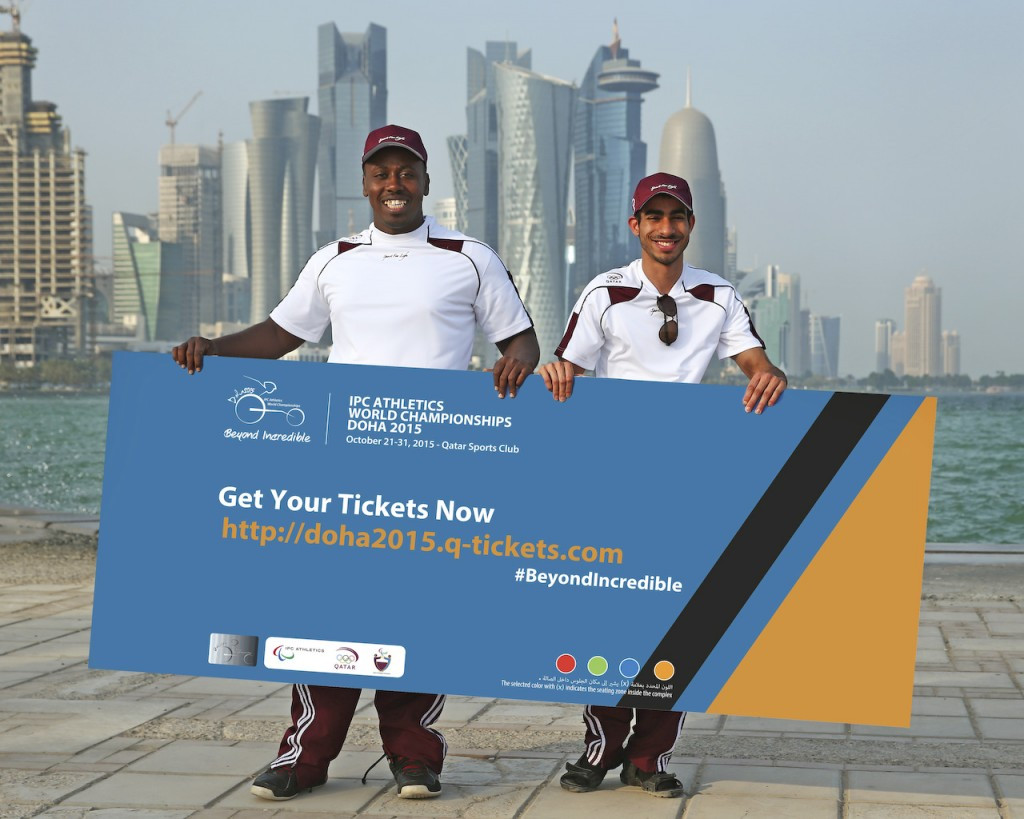 Tickets have gone on sale for the IPC Athletics World Championships in Doha ©Doha2015