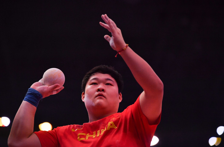 China's world shot put champion Gong Lijiao looks the strongest contender as a home winner in tomorrow's night's meeting in the Shanghai Stadium ©Getty Images