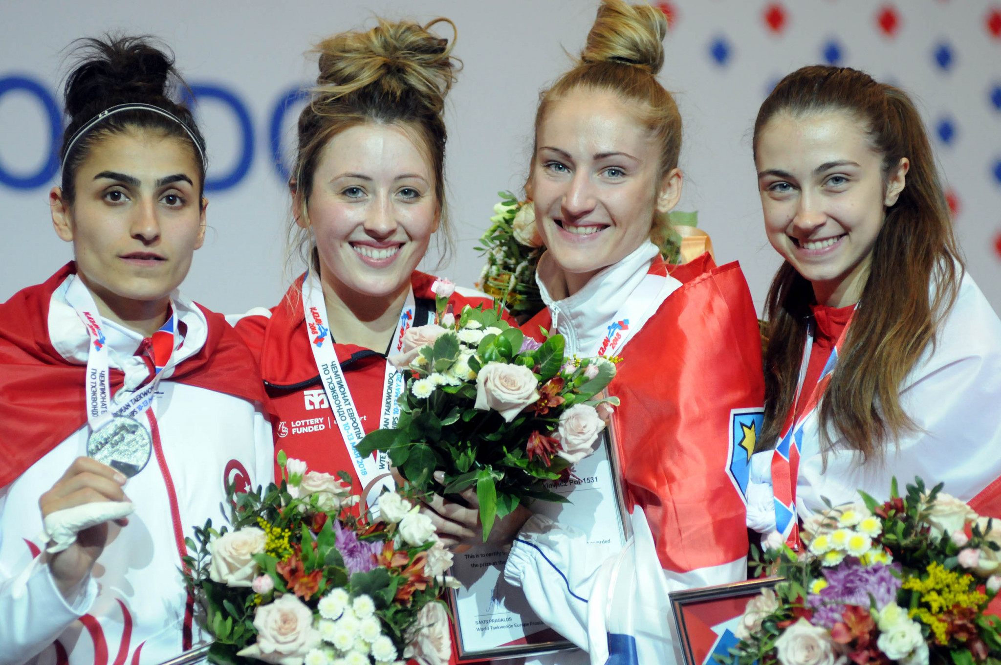 Double Olympic champion Jones successfully defends title at European Taekwondo Championships