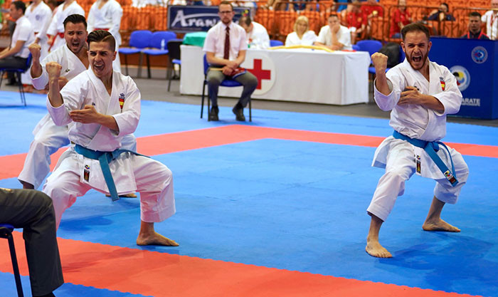 Italy and Spain impress in team events at European Karate Championships