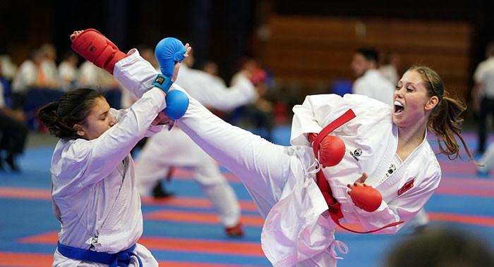 Italy and Switzerland will contest the women's kumite final ©WKF
