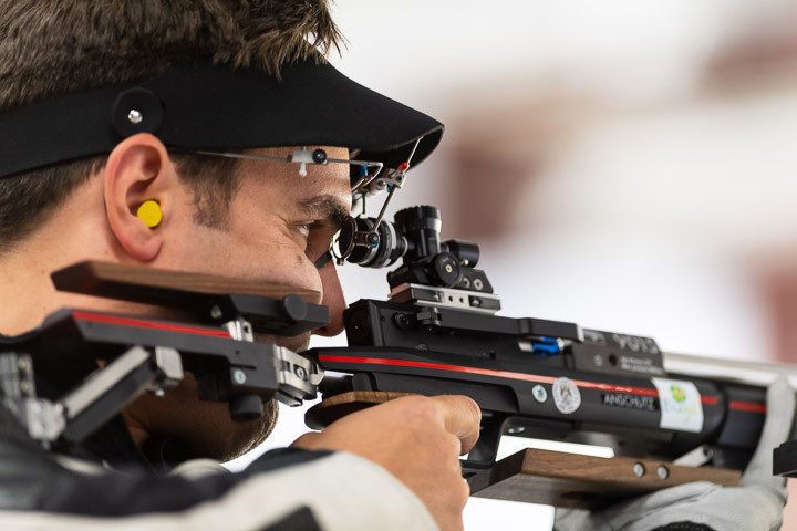 Julian Justus won his first ever solo air rifle title in Fort Benning ©ISSF