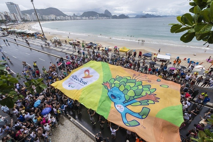 Rio 2016 celebrates 500 days to go to Paralympic Games with Copacabana flash mob