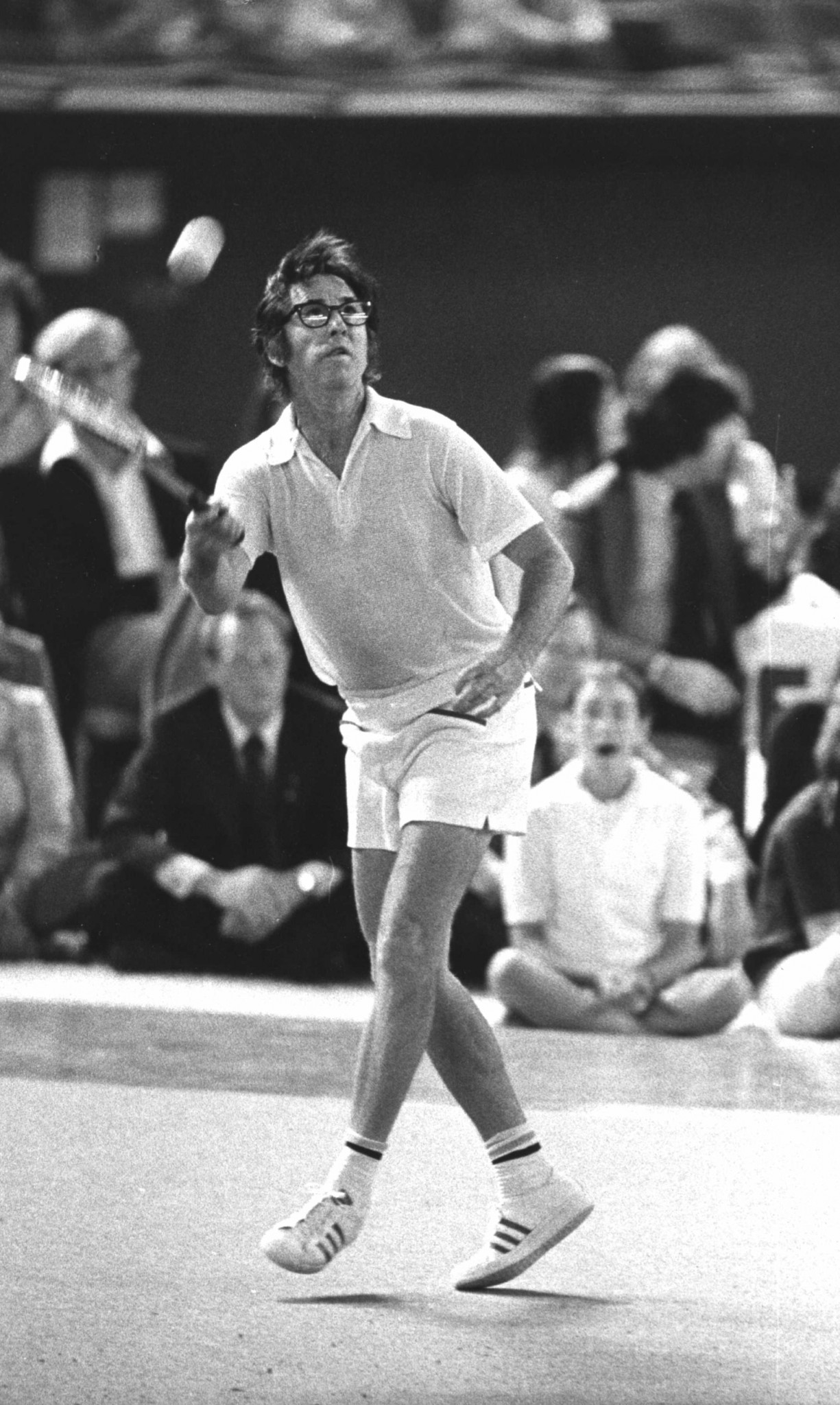 Bobby Riggs made frequent use of lob shots in his 1973 challenge matches - it worked against Court; but King was wise to him ©Getty Images